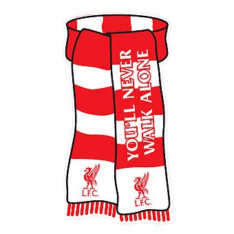 Liverpool FC Official Scarf Shaped Show Your Colours Metal Sign