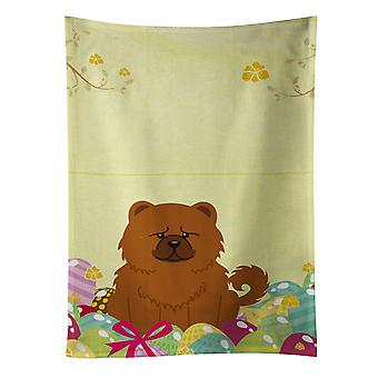 Carolines Treasures  BB6142KTWL Easter Eggs Chow Chow Red Kitchen Towel