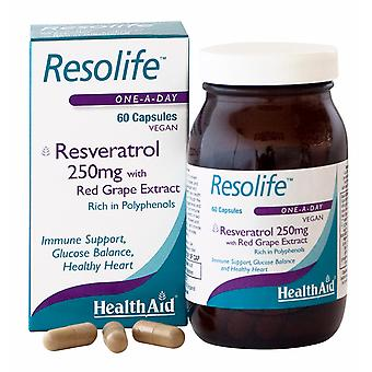 Health Aid Resolife (Resveratrol 250mg), 60 Capsules