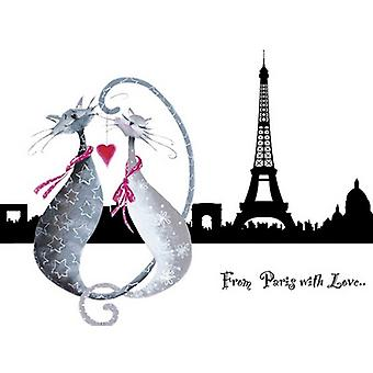 From Paris with Love Catitudes Poster Print by Marilyn Robertson (19 x 15)