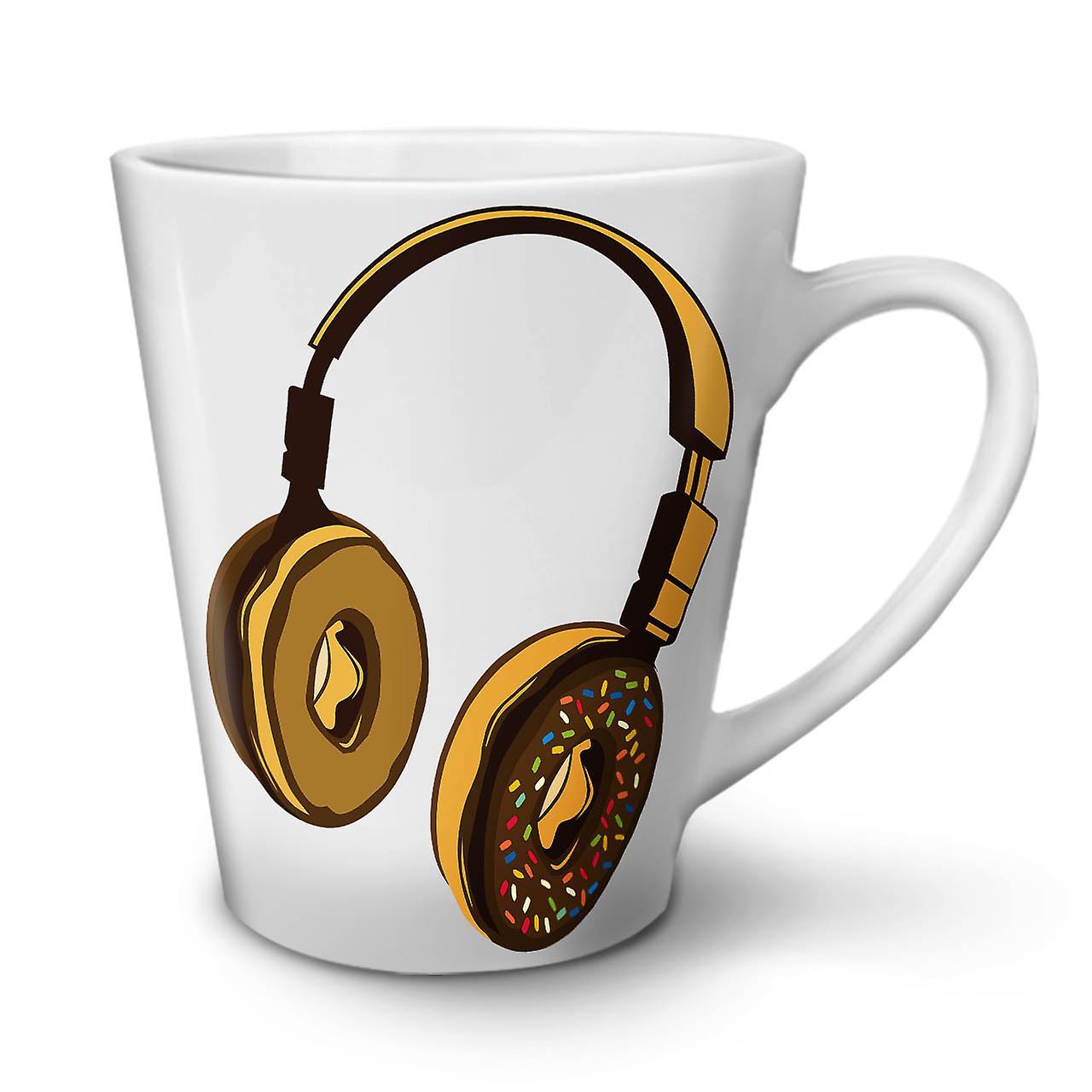 Casque Café Tasse Latte Céramique En OzWellcoda Nouvelle Musique Donut Blanche 12 29EIDH