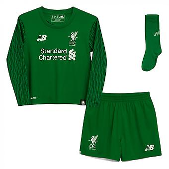 2017-2018 Liverpool Home goleiro Mini Kit