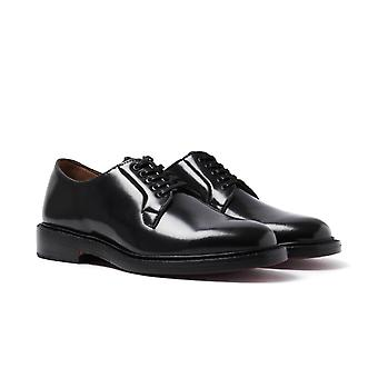Bass Monogram Derby Black Leather Shoes