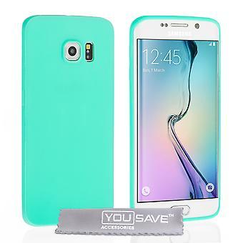 Samsung Galaxy S6 Edge Ultra dünnen Gel - Mint grünes Gehäuse