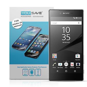 Protectores de pantalla Premium Yousave Sony Xperia Z5 - paquete de 5