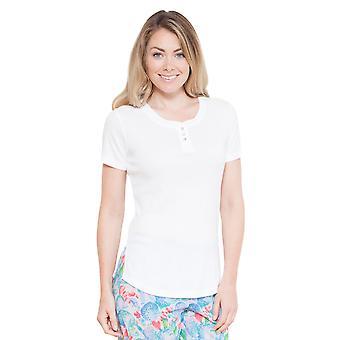 Cyberjammies 3680 Women's Celia White Solid Colour Pajama Pyjama Top