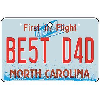 North Carolina - Best Dad License Plate Car Air Freshener