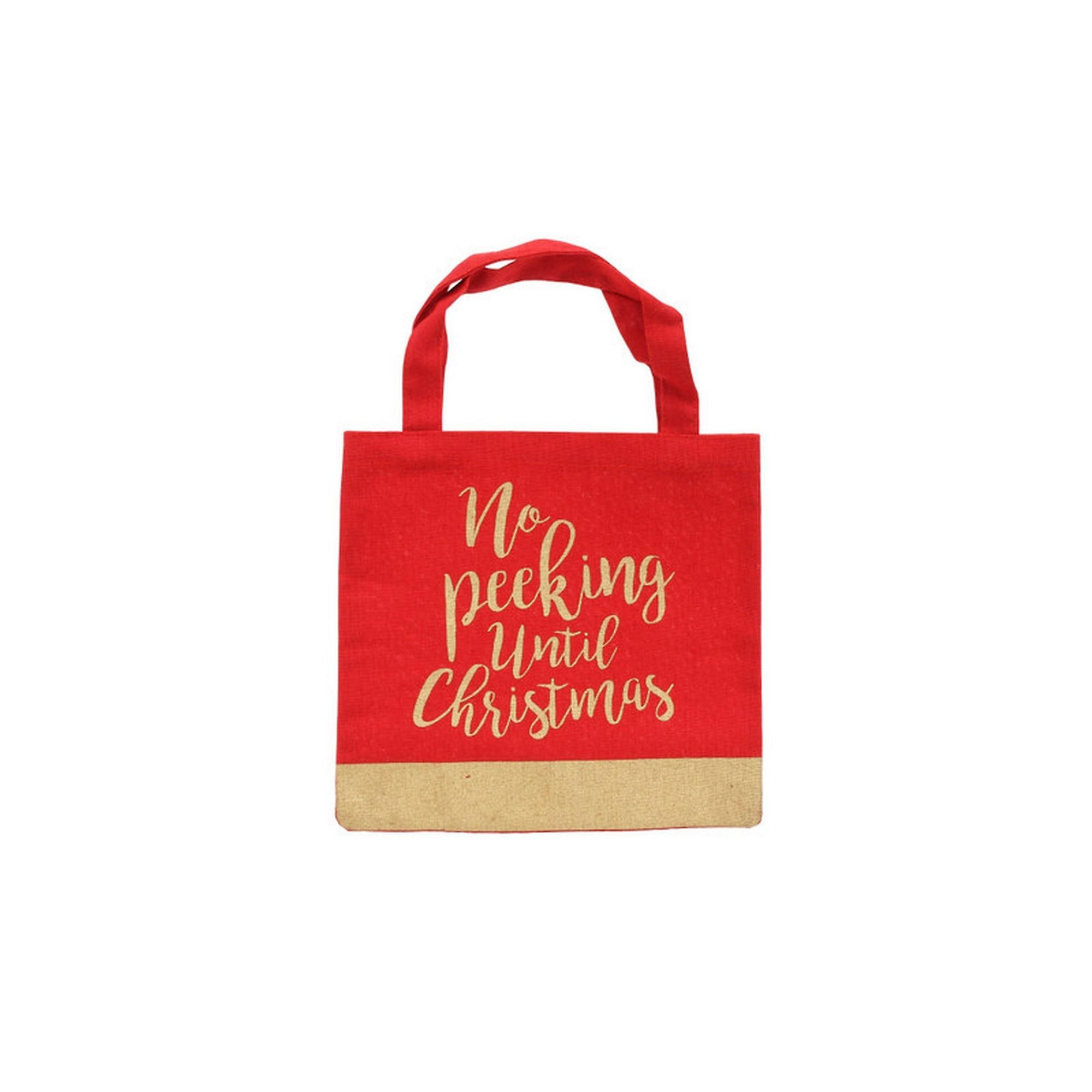 CGB Giftware Christmas No Peeking Until Christmas Gift Bag