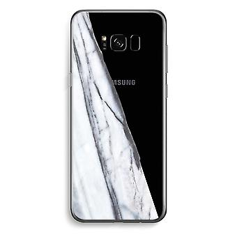 Samsung Galaxy S8 Transparent Case - Striped marble