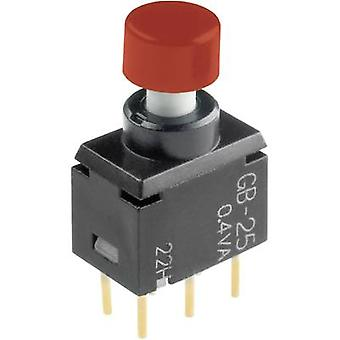 Pushbutton 28 V DC/AC 0.1 A 2 x On/(On) NKK Switches