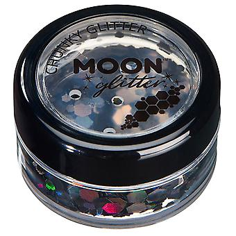 Holographic Chunky Glitter by Moon Glitter – 100% Cosmetic Glitter for Face, Body, Nails, Hair and Lips - 3g - Black