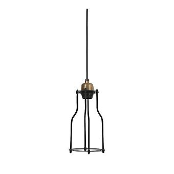 Light & Living Hanging Pendant Lamp D12.5x25cm Marcia Matted Black Antique Bronze