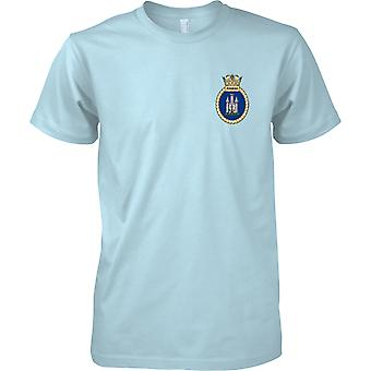 HMS Pembroke - actual buque de la Armada Real t-shirt color
