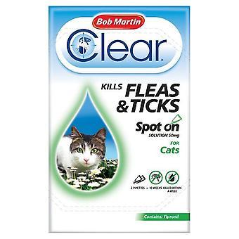 Bob Martin Clear Cat Kitten Spot On Fleas & Ticks Treatment, 3 Tubes