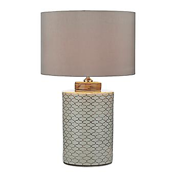 Paxton Table Lamp Cream Brown Base Only