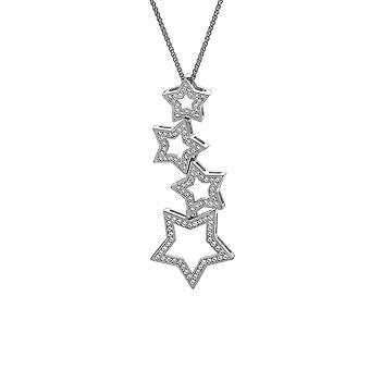 Orphelia sølv 925 kæde med vedhæng stjerne kontur med Zirconium ZH-7338