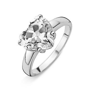 Orphelia Silver 925 Ring Heart White  Zirconium   ZR-3778