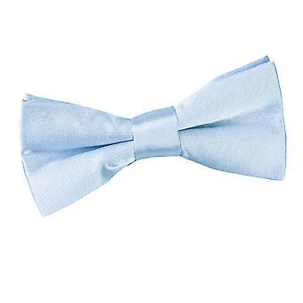 Baby blauw platte satijnen vooraf gebonden strikje voor jongens
