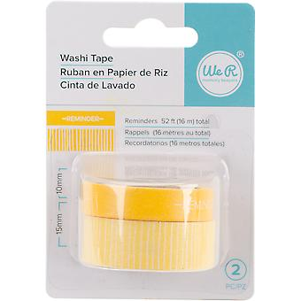 We R Chomper Washi Tape 2/Pkg-Reminders-Yellow