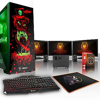 Fierce GOBBLER Gaming PC, Fast Intel Core i5 7400 3.5GHz, 2TB HDD, 16GB RAM, GTX 1060 6GB