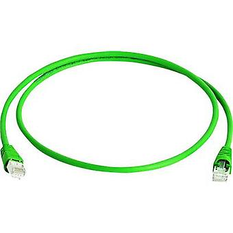 Telegärtner RJ45 Networks Cable CAT 6A S/FTP 2 m Green Flame-retardant, Halogen-free