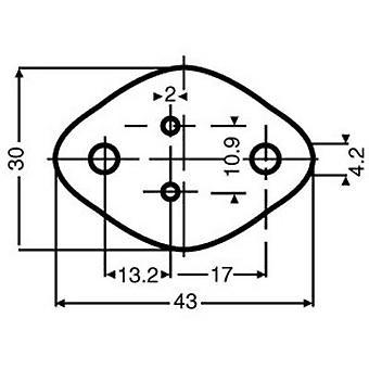 Mica sheet (L x W) 43 mm x 30 mm Suitable for TO 3 Fischer Elektronik