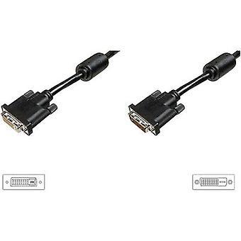 Digitus DVI Cable extension [1x DVI plug 25-pin - 1x DVI socket 25-pin] 3 m Black