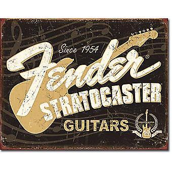 Fender Stratocaster anos 60 Metal parede sinal