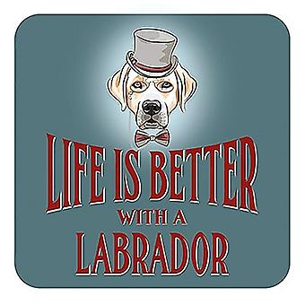 Life Is Better With A Labrador Cork Backed Drinks Mat / Coaster