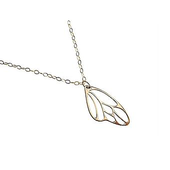 Gemshine - damas - collar - pendientes - oro - alas de mariposa - 4 cm