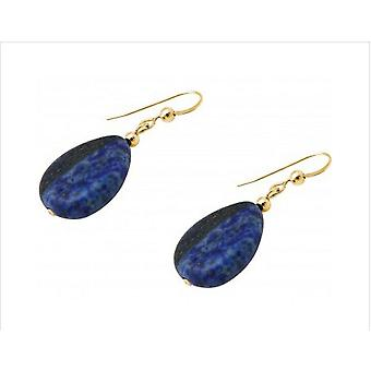 Lapis lazuli earring lapis lazuli oorbellen HELENE goud verguld