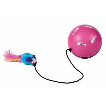 Trixie Motor Ball With Rope And Mouse / Pen (Cats , Toys , Balls)