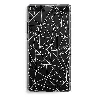 Huawei Ascend P8 Transparent Case (Soft) - Geometric lines white