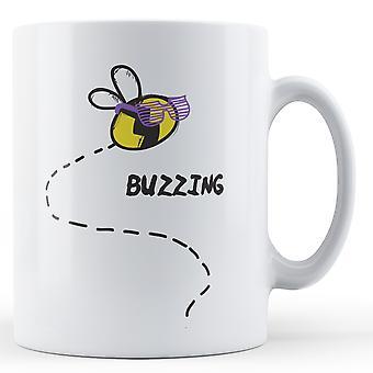 Zoemende bijen - bedrukte mok