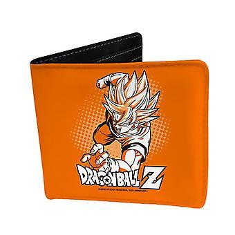 Dragon Ball Z Goku monedero naranja, impreso, vinilo de cuero del faux.