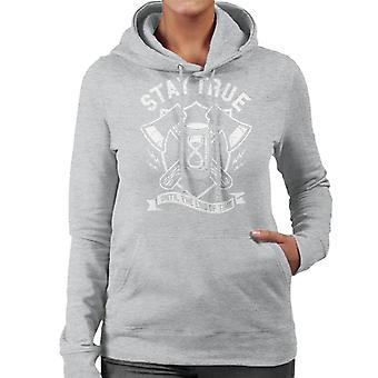 Verblijf ware muurschildering vrouwen Hooded Sweatshirt