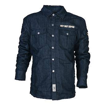 West Coast choppers mens transition jacket OG denim aramid riding raw denim