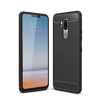 LG G7 ThinQ Carbon fiber Shell-Black