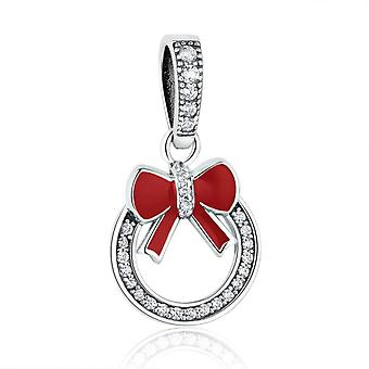Sterling silver pendant charm Christmas wreath