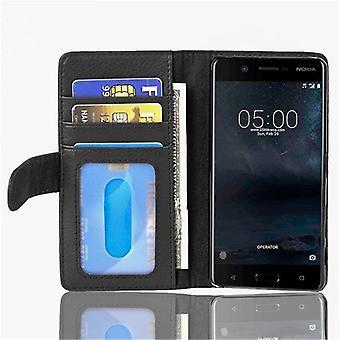 Cadorabo sag for Nokia 5 2017 - mobile tilfældet med 3 kreditkort slots - tilfælde dække ærme pose taske bog Klapp stil