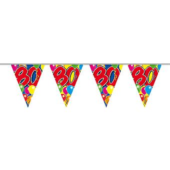 Pennant chain 10 m number 80 years birthday decoration party Garland