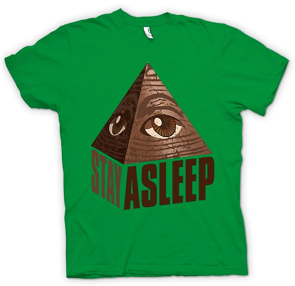 Herr T-shirt-Illuminati vistelse sover