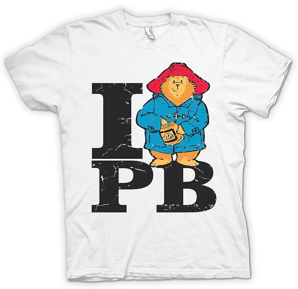 Mens t-shirt - amo PB - ispirato di Paddington Bear