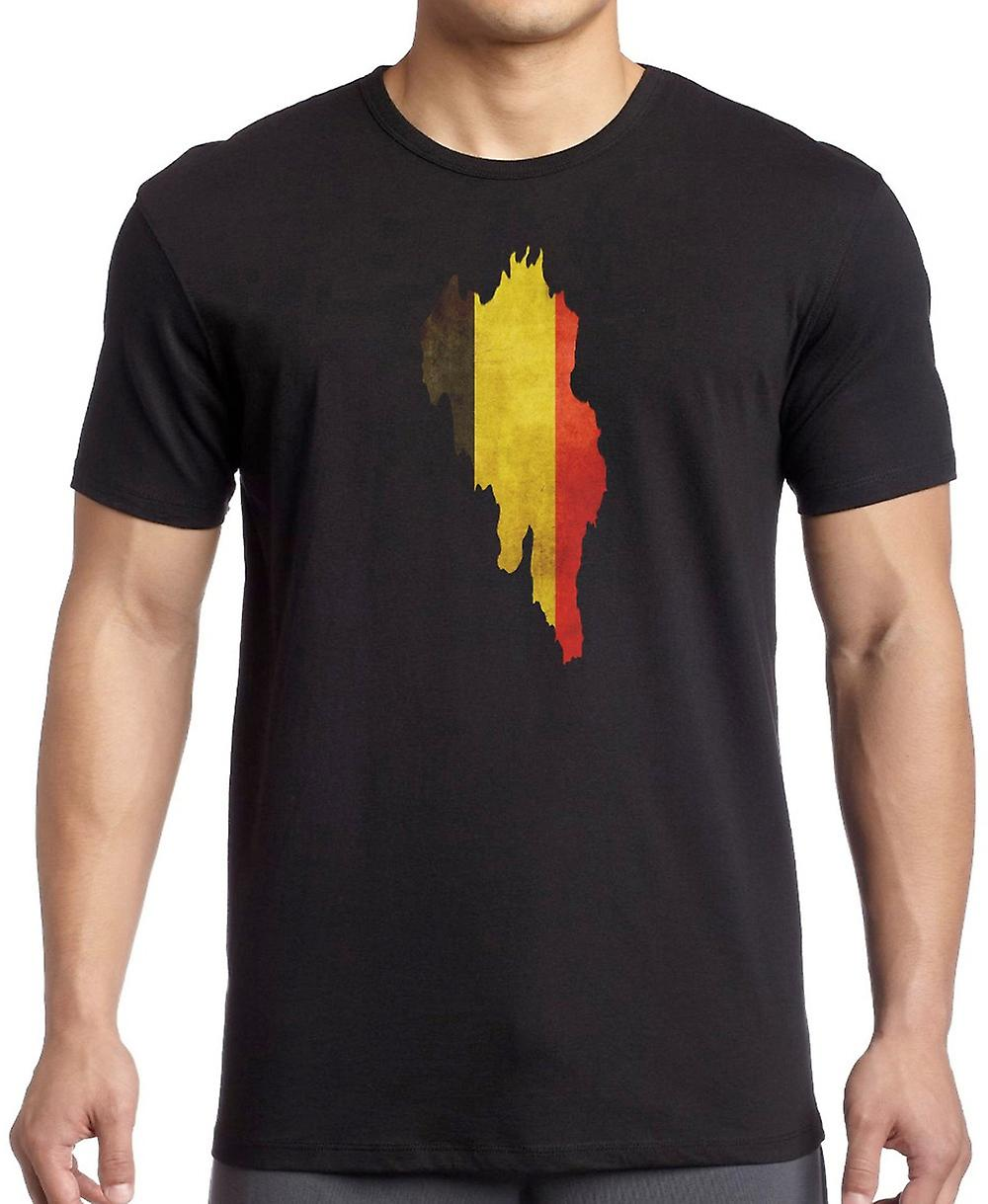 Belgian Belgium Flag Map Kids T Shirt