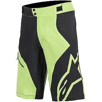 Alpinestars hell grün-schwarzen 2017 Pathfinder Base Racing MTB Shorts