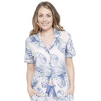 Cyberjammies 4101 kvinnors Isla vita blad ut pyjamas Top