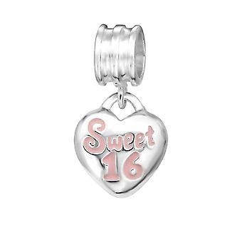 Heart Sweet 16 - 925 Sterling Silver Plain Beads - W11178X