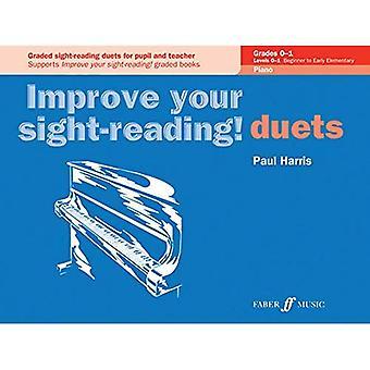 Duetter Piano betyg före årskurs 1 till Grade1 (förbättra din Sight-läsning!)