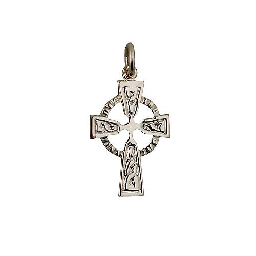 9ct Gold 22x16mm embossed Celtic pattern Cross