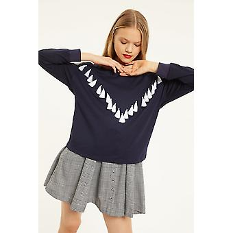 Cubic Jumper With Tassel Detail